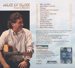 Miles of Blues - Cd - Franco Morone - retro