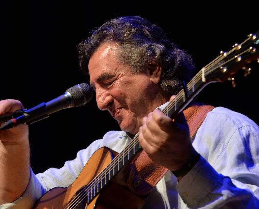 Franco Morone fotografato da Gottfried Evers alla Niederrheinische Gitarrennacht a Kastell (D)