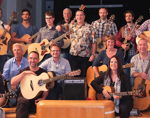 Franco Morone Annual guitar workshop at Malosco 2014