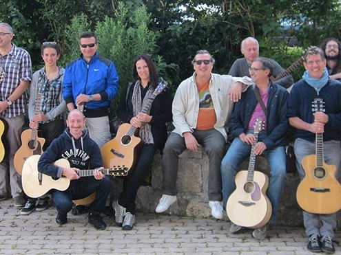 Franco Morone acoustic fingerstyle guitar workshop in Pralongo 2014