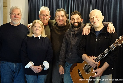 Franco Morone guitar course at Osimo apr 2017