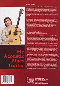 My Acoustic Blues Guitar - Libro e Cd - Franco Morone - back
