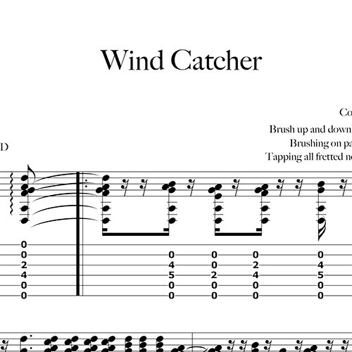 Preview-Wind-Catcher_FrancoMorone-MusicaTabsChitarraFingerstyle
