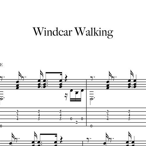 Anteprima-Windcar-Walking_FrancoMorone-MusicaTabsChitarraFingerstyle