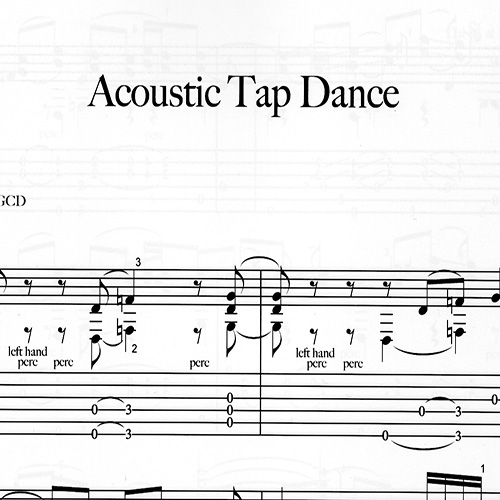 Preview-Franco Morone 'Acoustic-Tap-Dance' Music and tabs