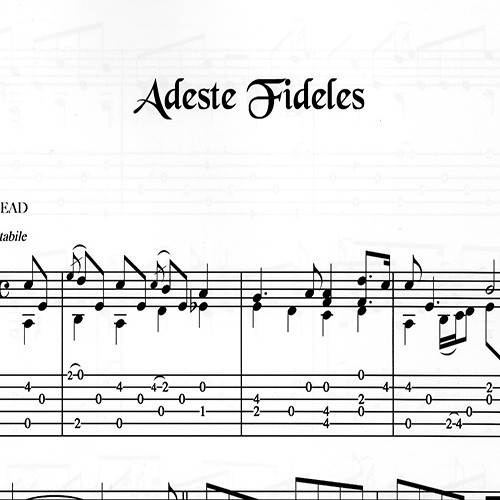 Franco Morone Adeste-Fideles Music and tabs