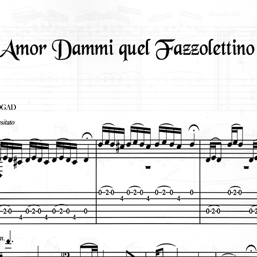 Franco Morone Amor-Dammi-Quel-Fazzolettino  Music and tabs