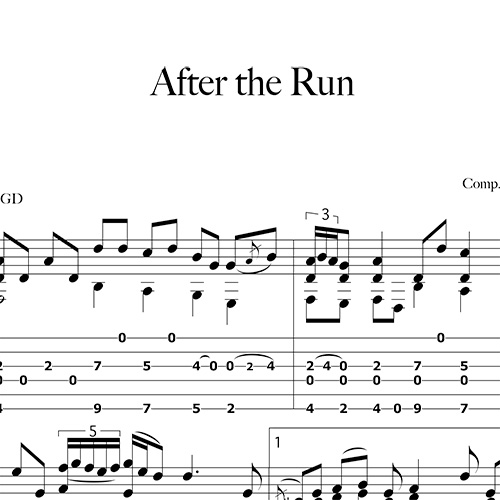 Anteprima-After-the-Run_FrancoMorone-MusicaTabsChitarraFingerstyle