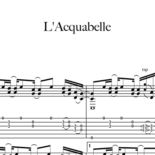 Preview-L'acquabelle_FrancoMorone-MusicaTabsChitarraFingerstyle