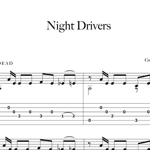 Preview-Night-Drivers_FrancoMorone-MusicaTabsChitarraFingerstyle