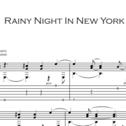 Anteprima-Rainy-Night-in-NY_FrancoMorone-MusicaTabsChitarraFingerstyle