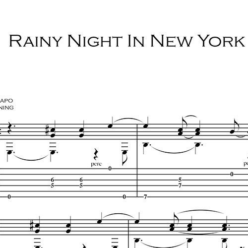 Anteprima-Rainy-Night-in-NY_FrancoMorone-MusicaTabsChitarraFingerstyle