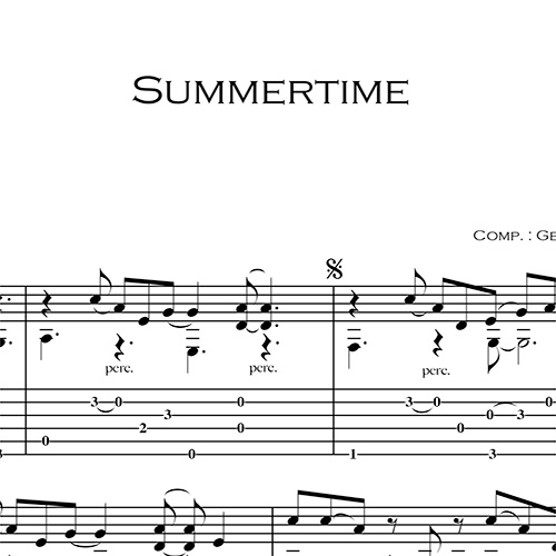 Anteprima-Summertime_FrancoMorone-MusicaTabsChitarraFingerstyle