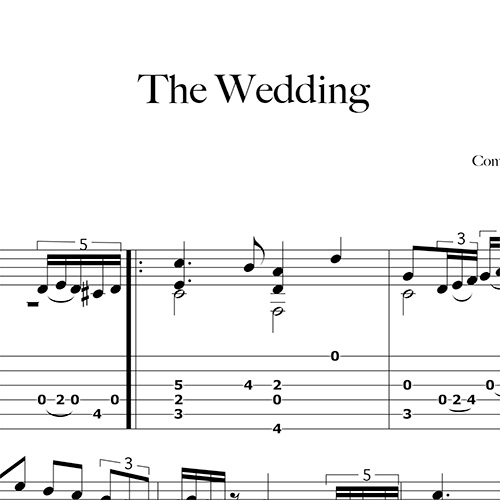 Anteprima-The-Wedding_FrancoMorone-MusicaTabsChitarraFingerstyle