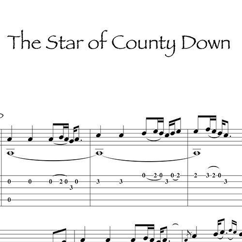 Anteprima-TheStarOfCountyDown_Gaelico_FrancoMorone-MusicaTabsChitarraFingerstyle