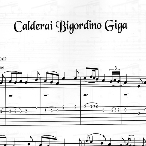 Franco Morone Calderai-Bigordino-Giga Music and tabs