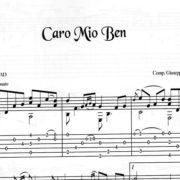 Franco Morone Caro-Mio-Ben Music and tabs