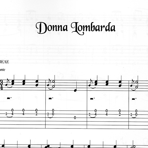 Franco Morone Donna-Lombarda Music and tabs
