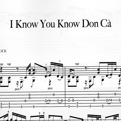 Preview_Franco Morone_I-Know-You-Know-Don-Ca'_Music and tabs