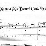 Franco Morone Mamma-Mia-Dammi-Cento-Lire Music and tabs