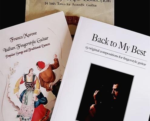Offerta speciale di tre libri per chitarra fingerstyle - Autore: Franco Morone