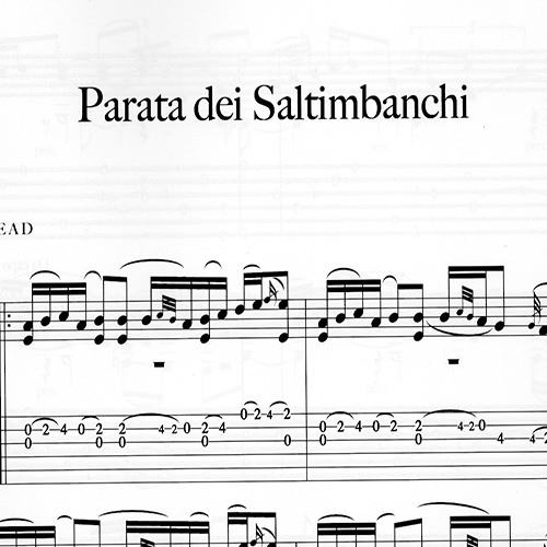 Franco Morone Parata-dei-Saltimbanchi Music and tabs