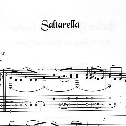 Franco Morone Saltarella Music and tabs