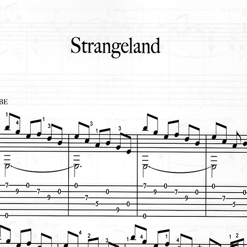 Franco Morone Strangeland Music and tabs