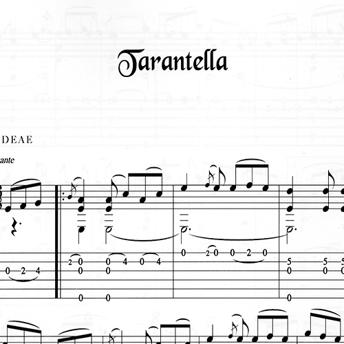 Franco Morone Tarantella Music and tabs
