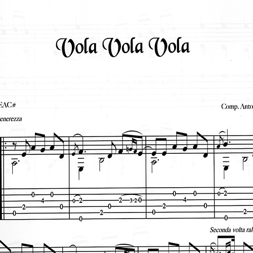 Franco Morone Vola-Vola-Vola Music and tabs