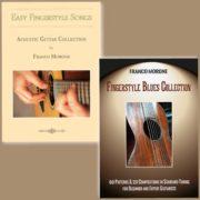 2 Libri per chitarra fingerstyle - autore: Franco Morone - Accordatura: Standard - Musica e intavolatura EasyFingerstyleSongs e FingerstyleBluesCollection
